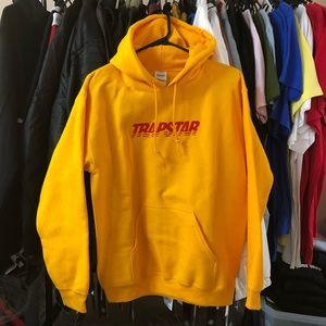 Sweaters - Trapstar Hoodie - Mustard